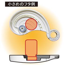 キャップオープナーeg plus 小さめのフタ使用イメージ図1